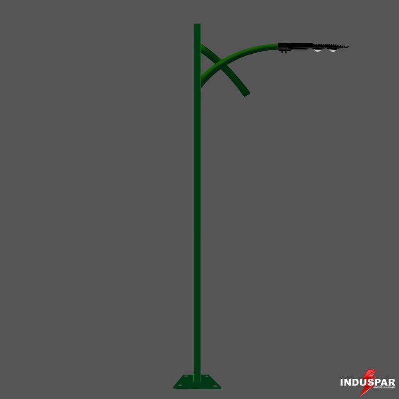 Poste de Jardim Led - Esmeralda 1 Luminária - P13L/1