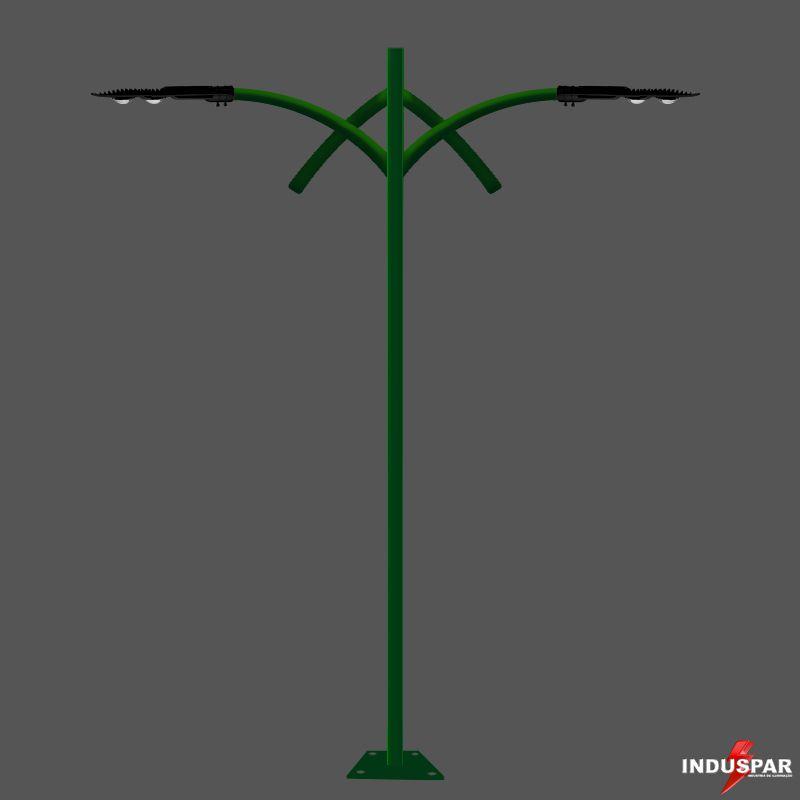 Poste de Jardim Led - Esmeralda 2 Luminárias - P13L/2-50W