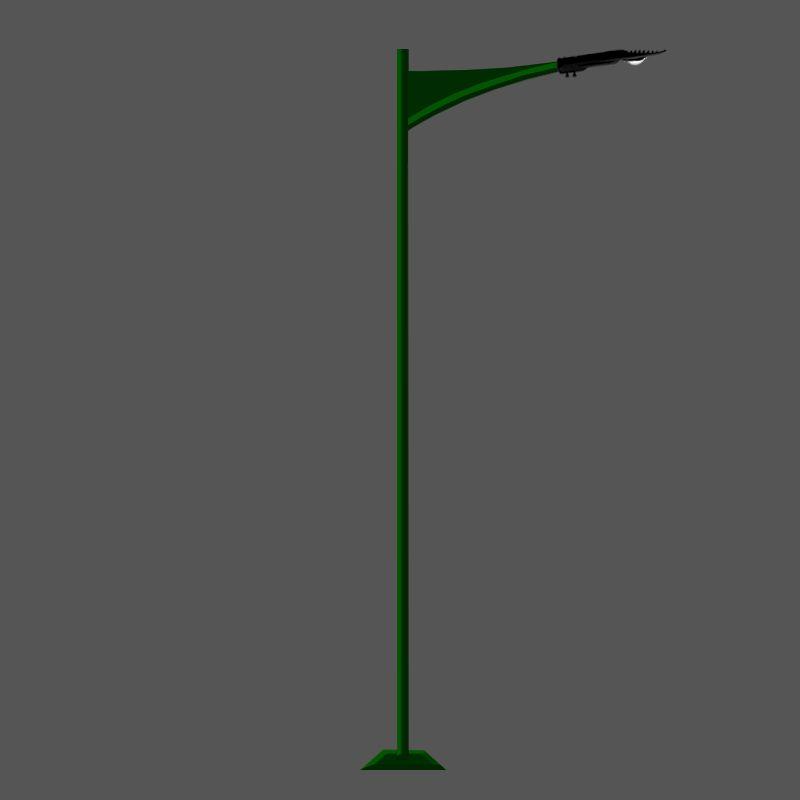 Poste de Jardim Led - Jade 1 Luminária - P14L/1