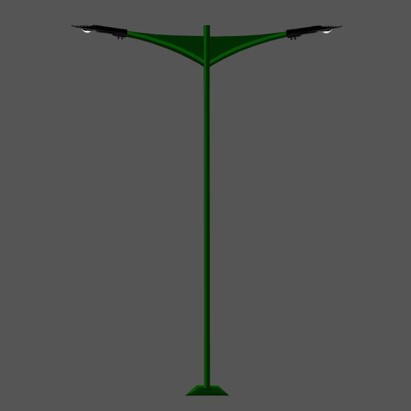 Poste de Jardim Led - Jade 2 Luminárias - P14L/2