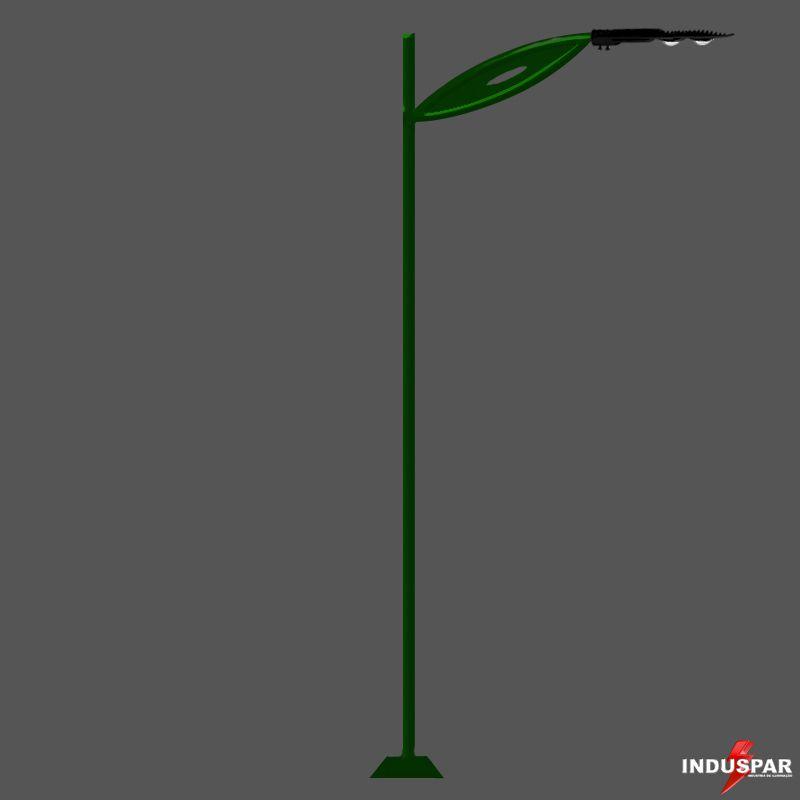 Poste de Jardim Led - Jaspe 1 Luminária - P15L/1-50W