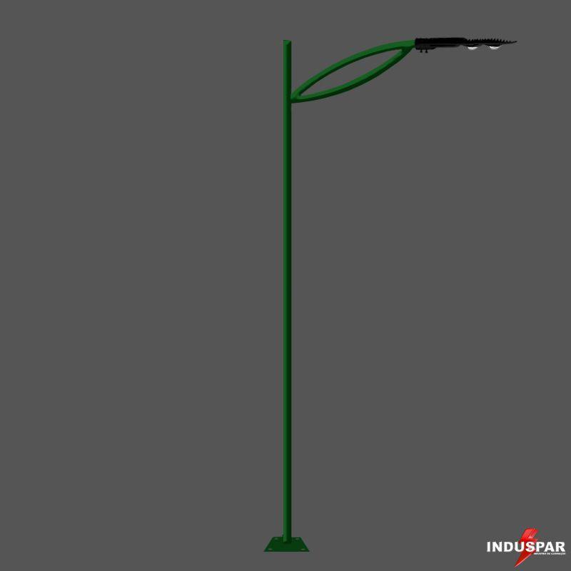 Poste de Jardim Led - Jatai 1 Luminária - P16L/1-50W