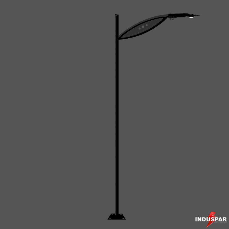 Poste de Jardim Led - Jensei 1 Luminária - P17L/1