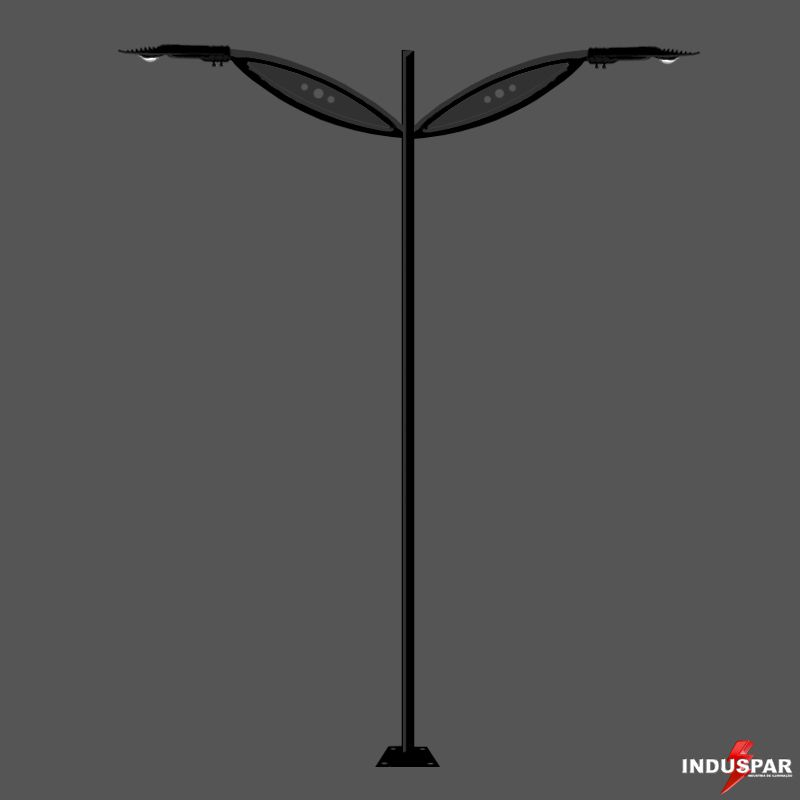 Poste de Jardim Led - Jensei 2 Luminárias - P17L/2-50W