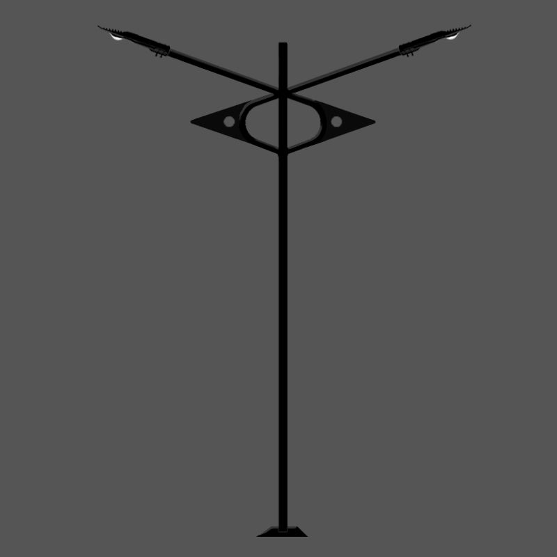 Poste de Jardim Led - Levian 2 Luminárias - P19L/2-50W
