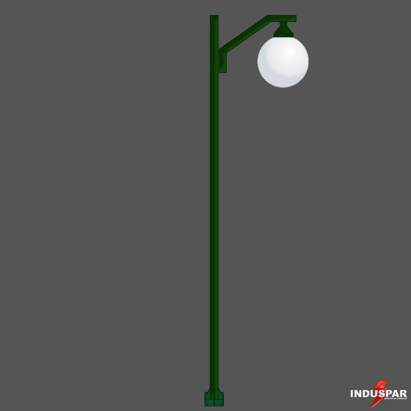 Poste Colonial de Jardim - P08G/1 - Pêndulo Reto 1 Globo