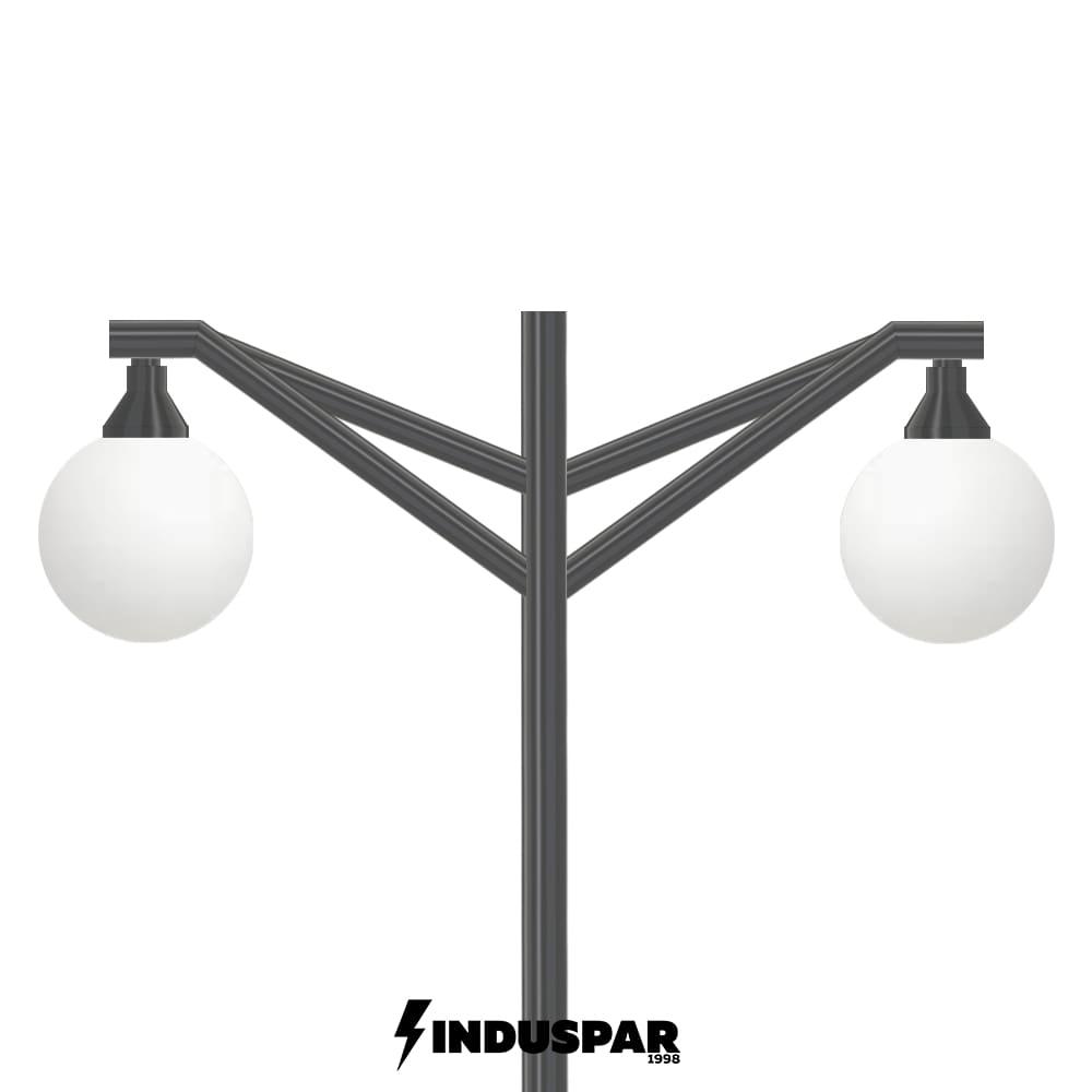 Poste de Jardim 04 - 2 Globos - P28G/2