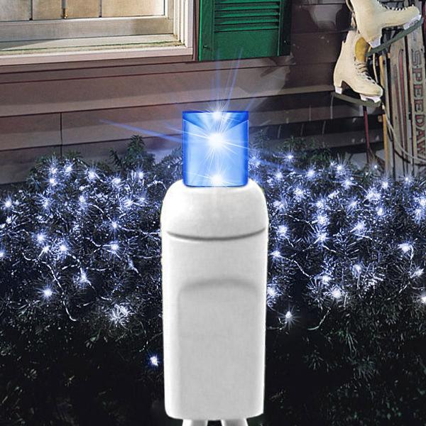 Rede 160 LEDs Azul com 2,20x1,25 Metros 220V ( FIXO ) - REF 1150