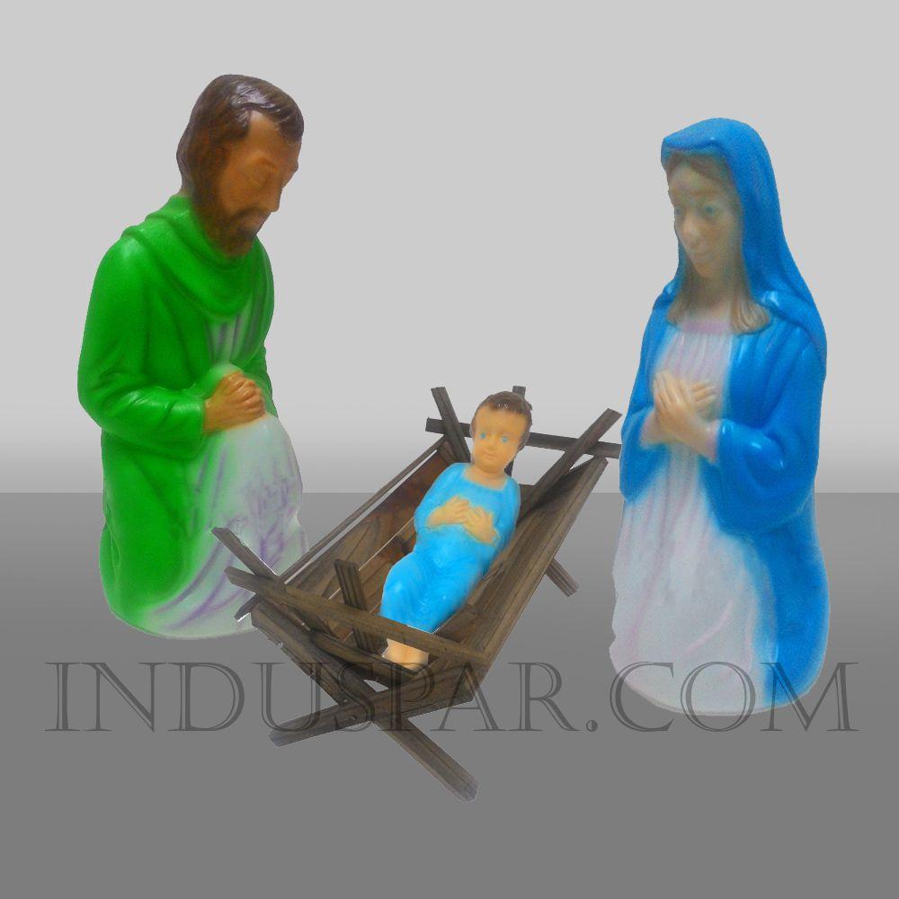 003/1-PR - Sagrada Família Iluminada - Presépio Tradição Polietileno Colorido