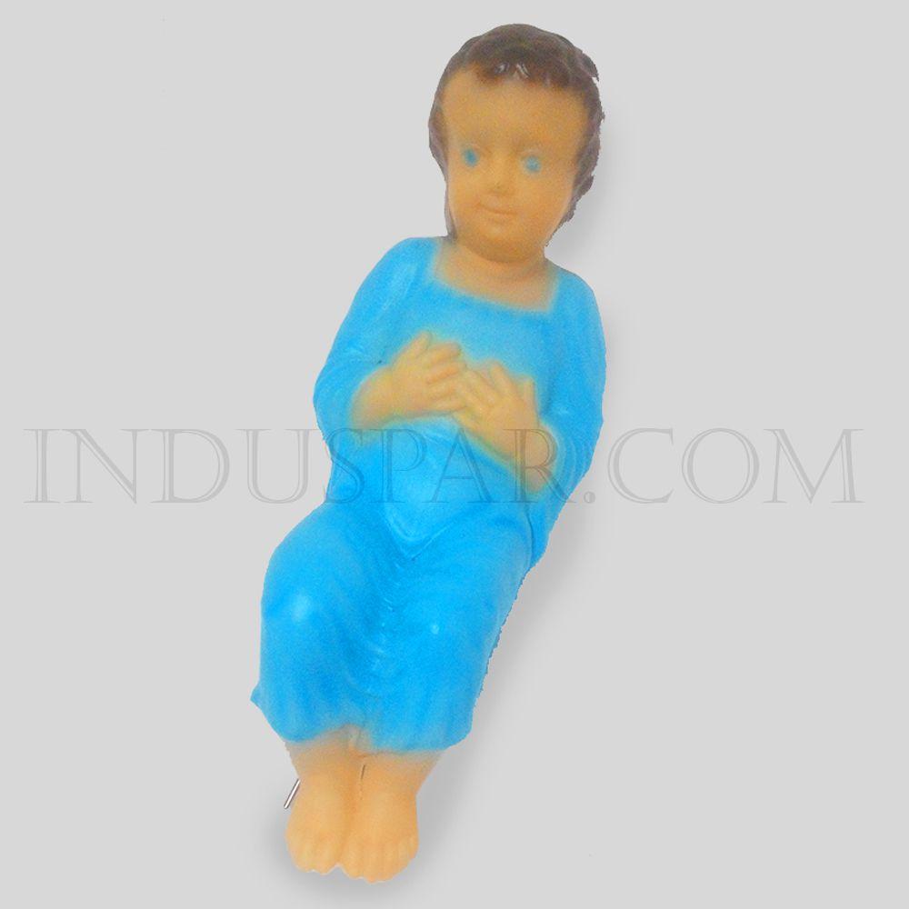 003/1 - Personagem Menino Jesus Colorido Iluminado Presépio Tradição Polietileno