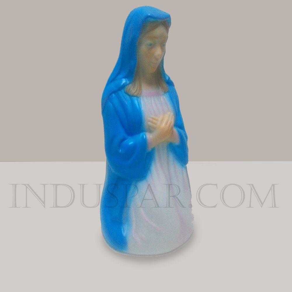 003/2 - Personagem Virgem Maria Colorido Iluminado Presépio Tradição Polietileno