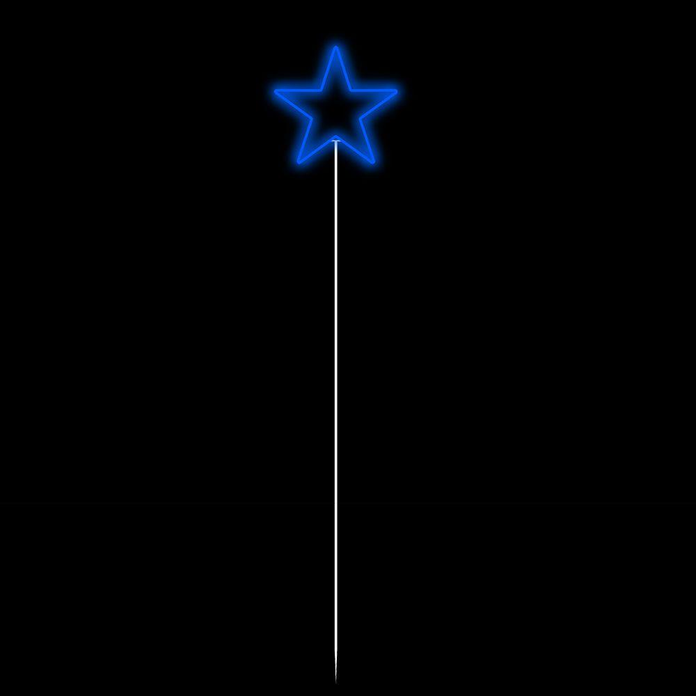 FI-057 - Pirulito de Estrela  30 cm Espeto - Altura 1,30 metros