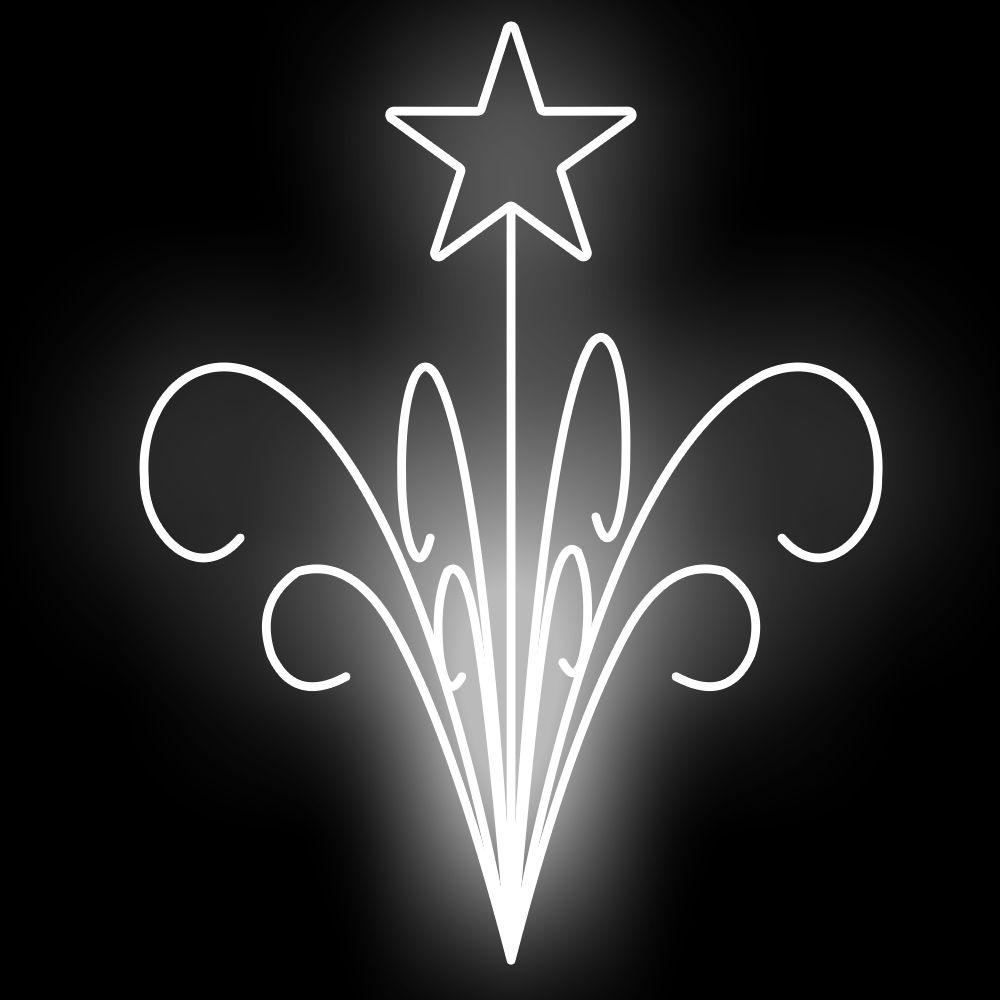 FI-034 - Ramalhete Estrelas e Galhos de Jardim 3D (veja opções)