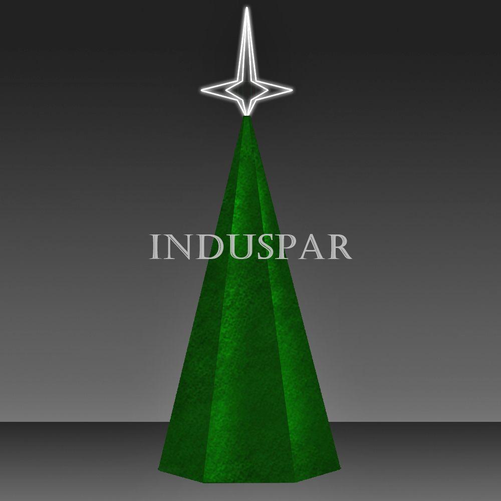 AR-026FP - Arvore de Natal Gigante Festão Verde  para Jardim - (Fabricamos com até 36 mts)