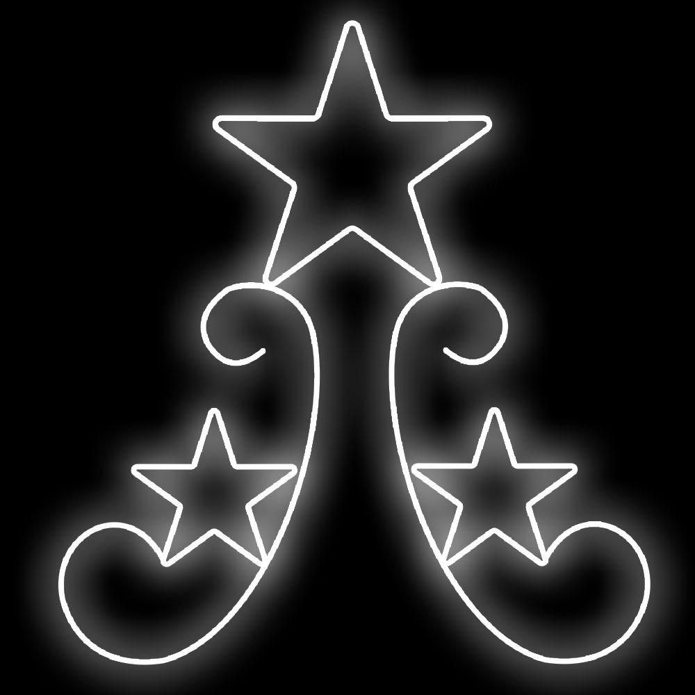045-FA Ornato Star 02 Decoração Natal Multiuso  - Tam 1,50 X 1,00 Metros