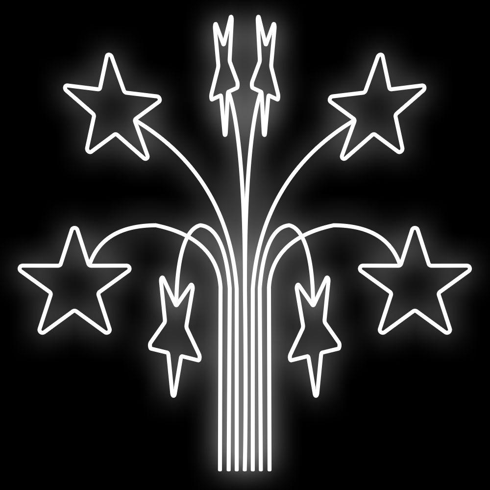 FI-049 - Ramalhete Estrelas Maxi 3D (veja opções)