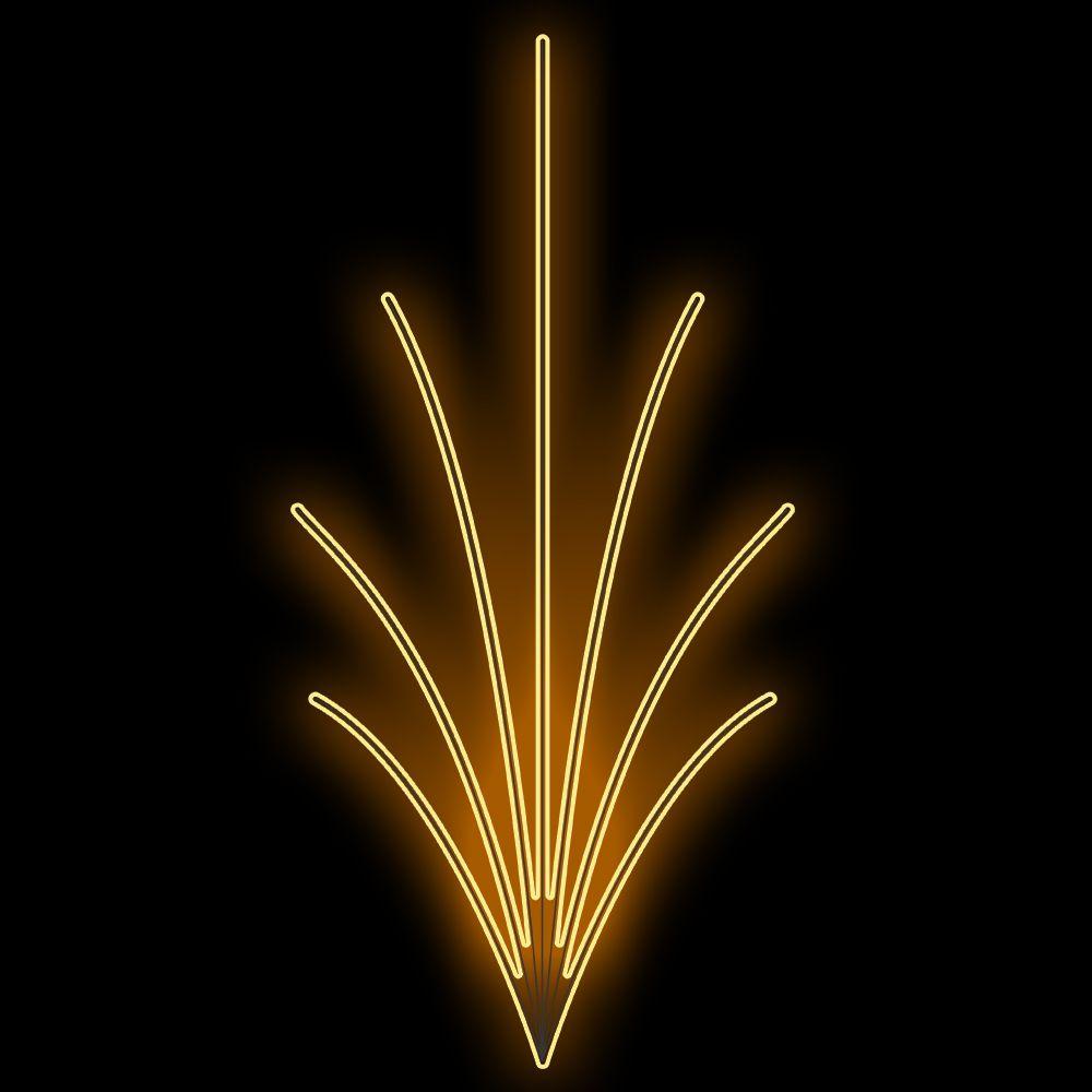 FI-113 - Decoração Metálica Iluminada Led - EFEITO DE JARDIM LED - Tam 3,55 x 1,70 Metros