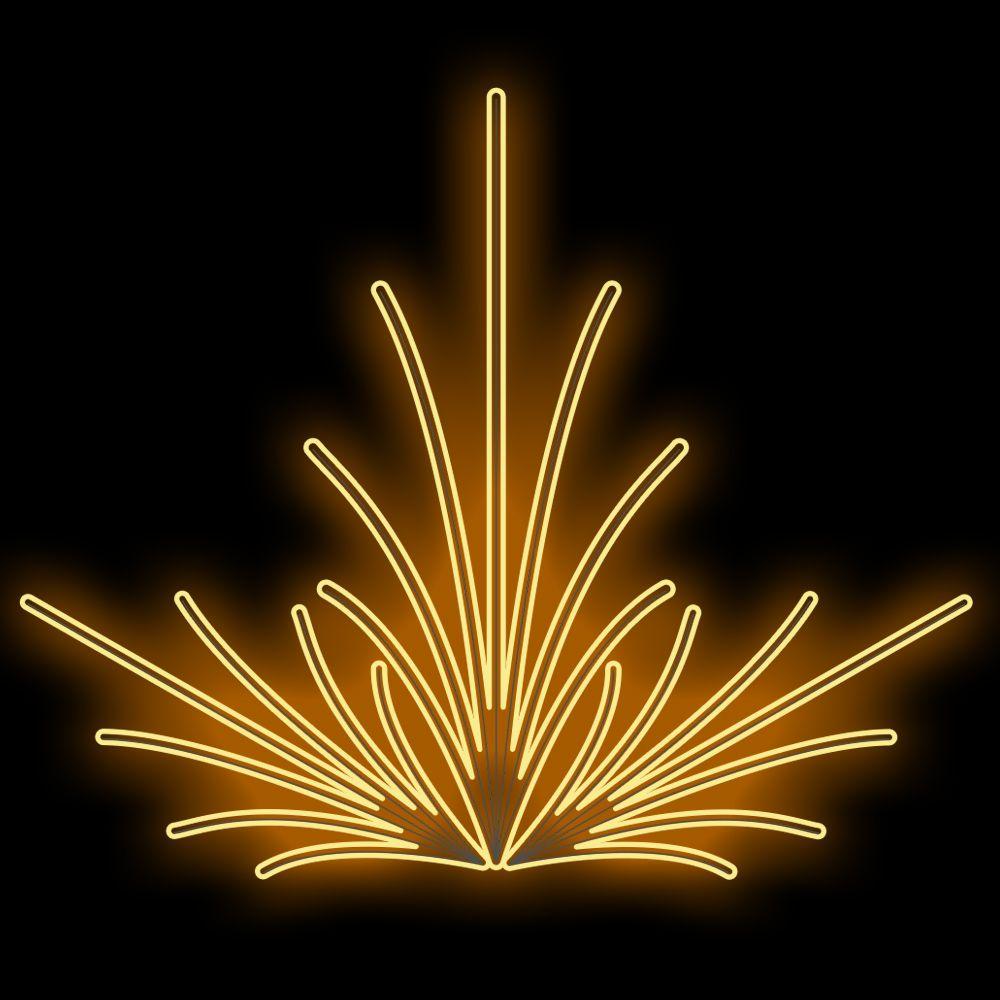 FI-114 - Decoração Metálica Iluminada Led - Efeito de Jardim -Tam. 3,55 x 4,20 Metros