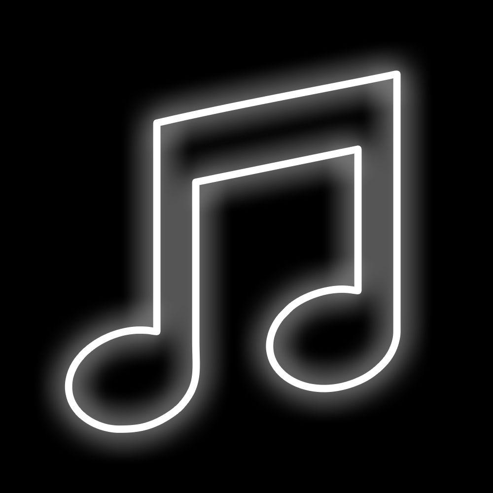 096-FA - Decoração Metálica Iluminada Led - Notas Musicais Led - MED 1,00 x 1,00 mts