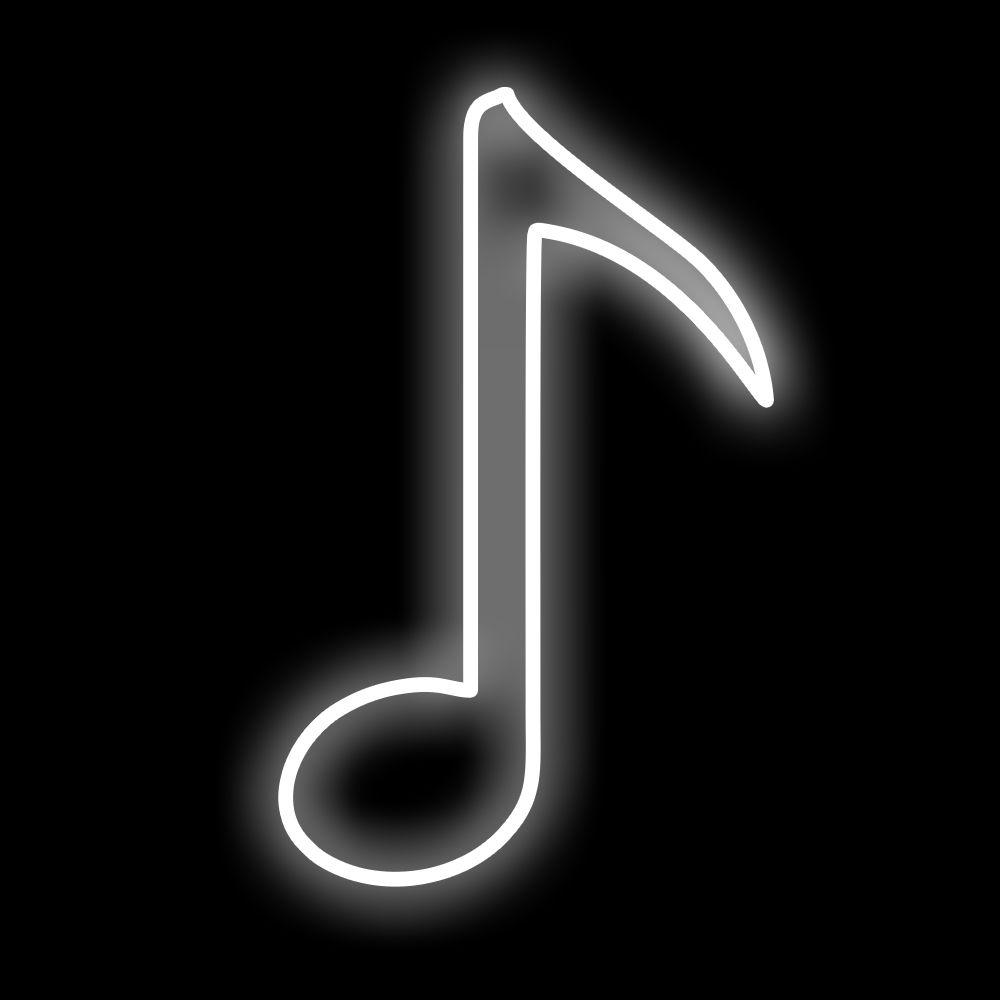 FI-139 - Decoração Metálica Iluminada Led - Notas Musicais Colcheia - MED 1,00 x 0,70 mts