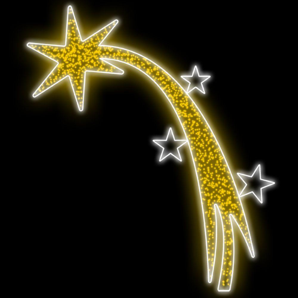 123-FA - Decoração metálica Painel Portal Star LED - MED 3,25m Alt. X 2,50m Larg