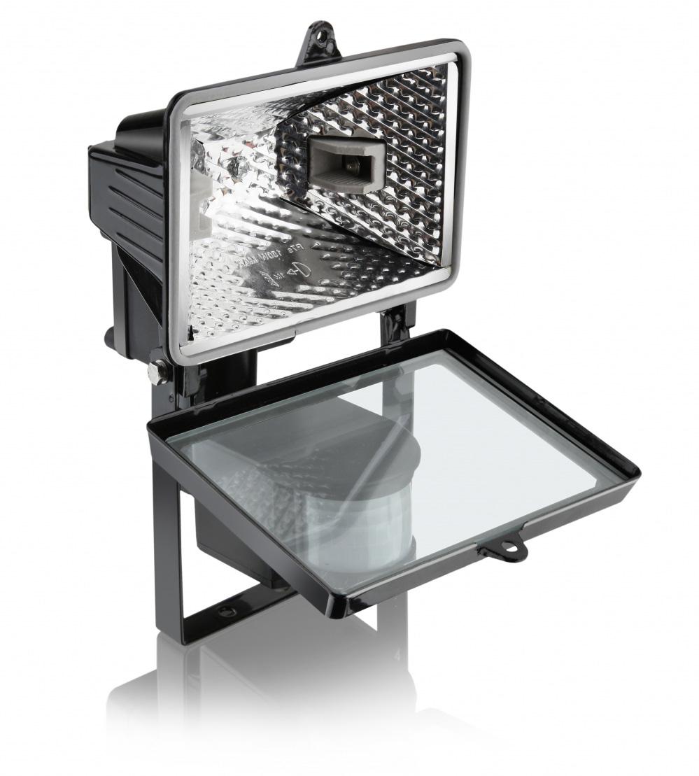 Refletor Lâmpada 1000W para Lâmpada Halógena 189MM Preto - Com Sensor ELGIN