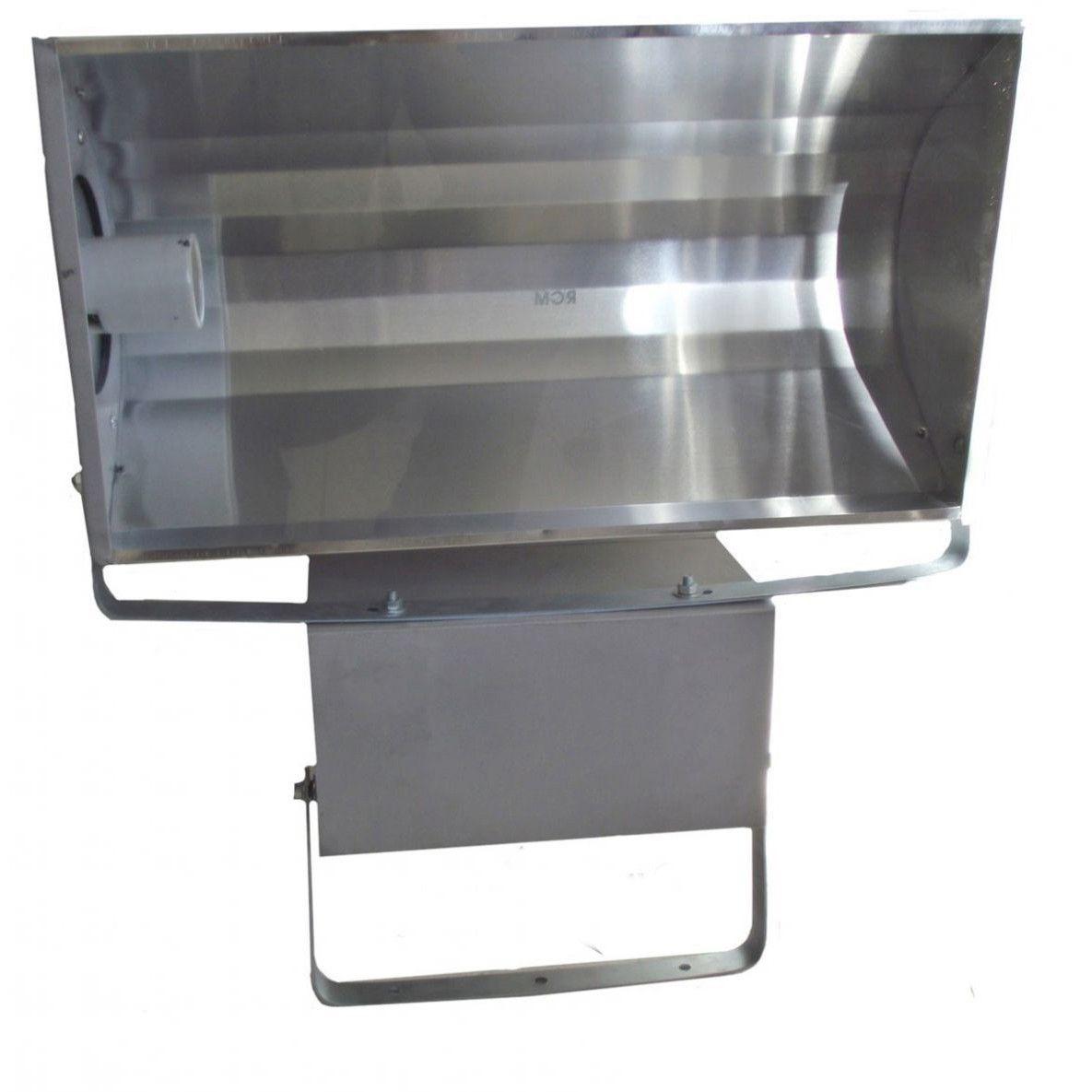 Refletor Lâmpada  150W Alumínio Retangular Soquete Bipino HQI com Alojamento