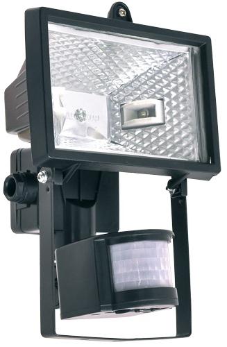 Refletor  150W para Lâmpada Halógena 78MM Preto - Com Sensor