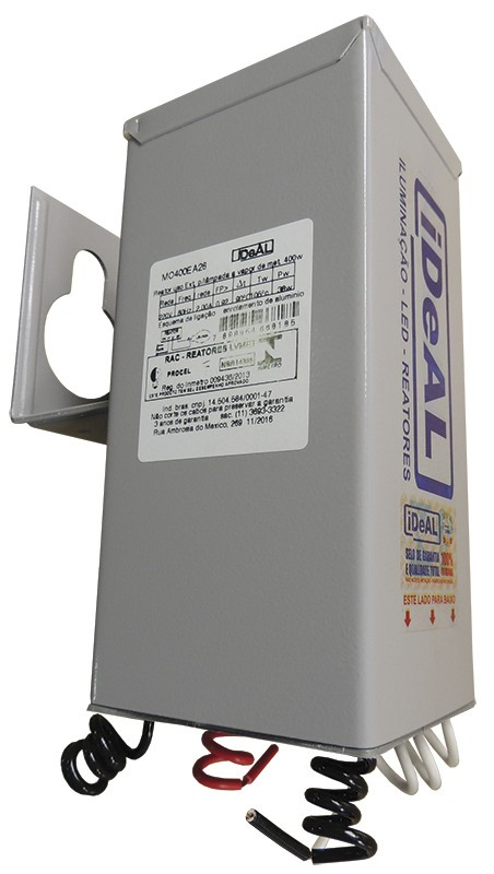 Refletor Lâmpada  250W Alumínio para formar KIT com Lâmpada Metálica Cores