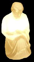 002/3 - Personagem José Branco Iluminado Presépio Tradição Polietileno