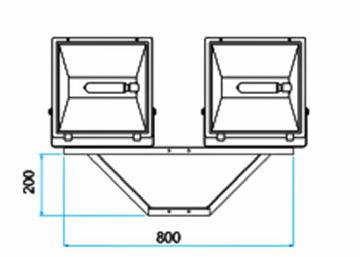 Suporte Cruzeta para 2 Refletores em Poste - SC-02