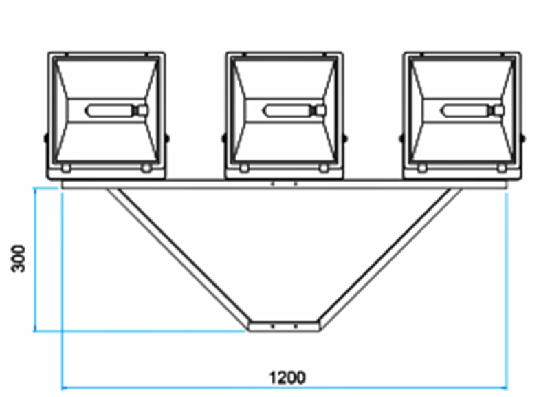 SC-03  - Suporte Cruzeta para 3 Refletores em Poste
