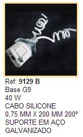 Soquetes para Lâmpadas Halógenas Halopin Base G9 - Cod 9129B com suporte