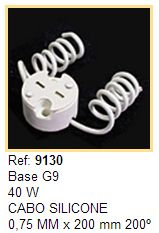 Soquetes para Lâmpadas Halógenas Halopin Base G9 - Cod 9130