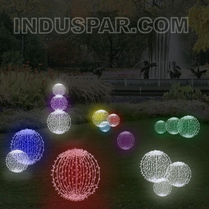 FI-131/100 - Bola de Natal  100 cm Esfera Gigante 3D Iluminada Led