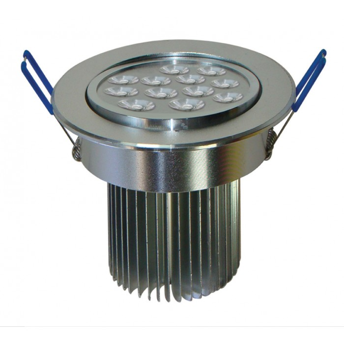 Spot de Embutir Super LED 12W 3000K Dirigível Redondo Bivolt - Cod 1726