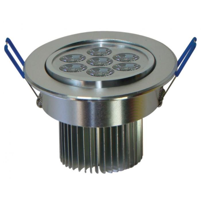 Spot de Embutir Super LED 7W 6500K Dirigivel Redondo Prata Bivolt Cod 1721