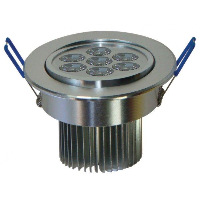 Spot de Embutir Super LED 9W 3000K Dirigível Redondo Bivolt - Cod 1724