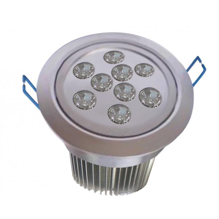 Spot de Embutir Super LED 9W 6500K Redondo Bivolt - Cod 1723