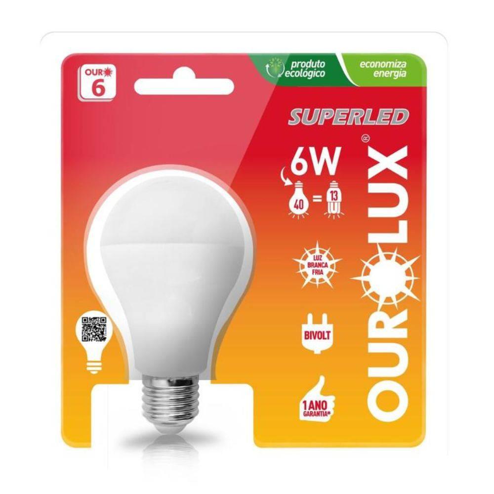 Lâmpada Bulbo A60  6W LED 6500K E27 Bivolt