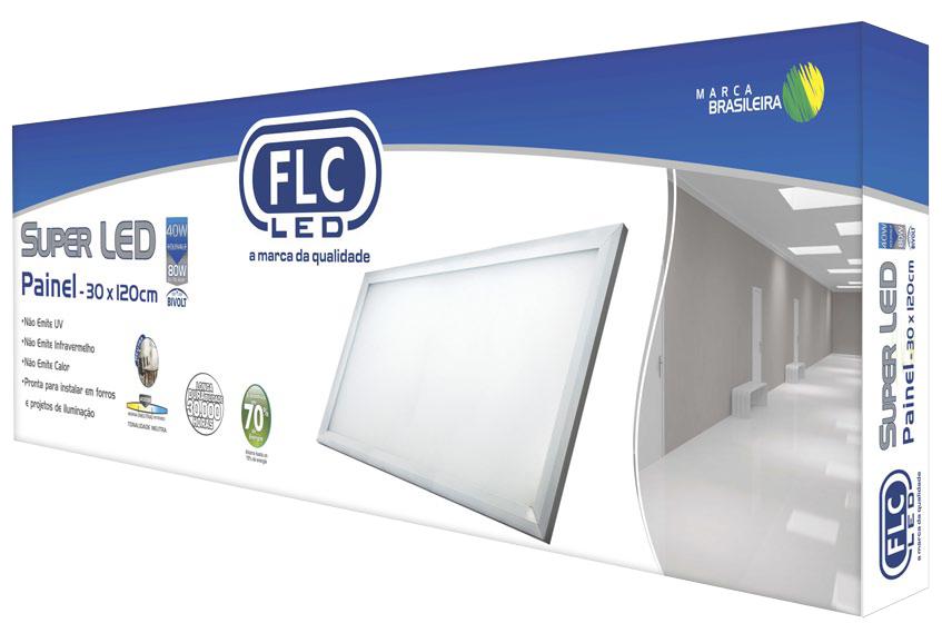Super LED Painel Quadrado 30X120 - 36W Bivolt 4000K
