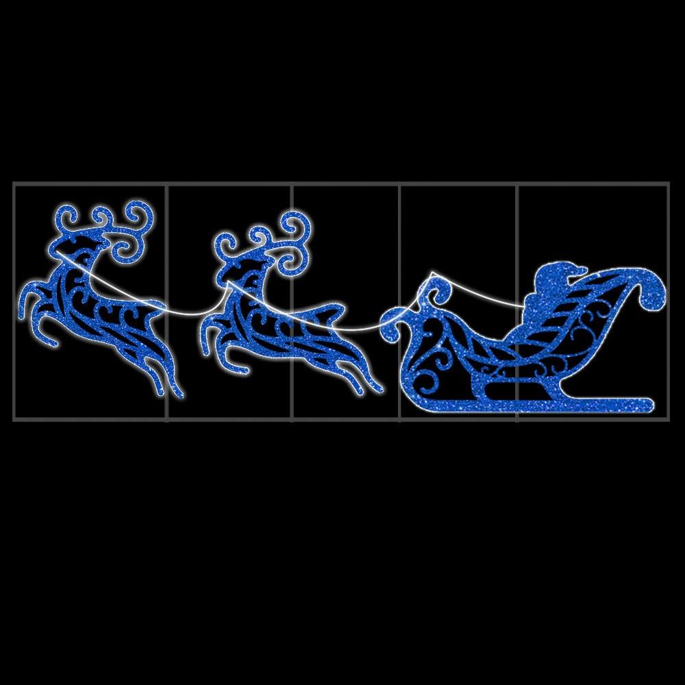 Treno 2 Renas TR-03DN Iluminado Decoração de Natal Dia e Noite - MED 1,16 x 3,50 MT