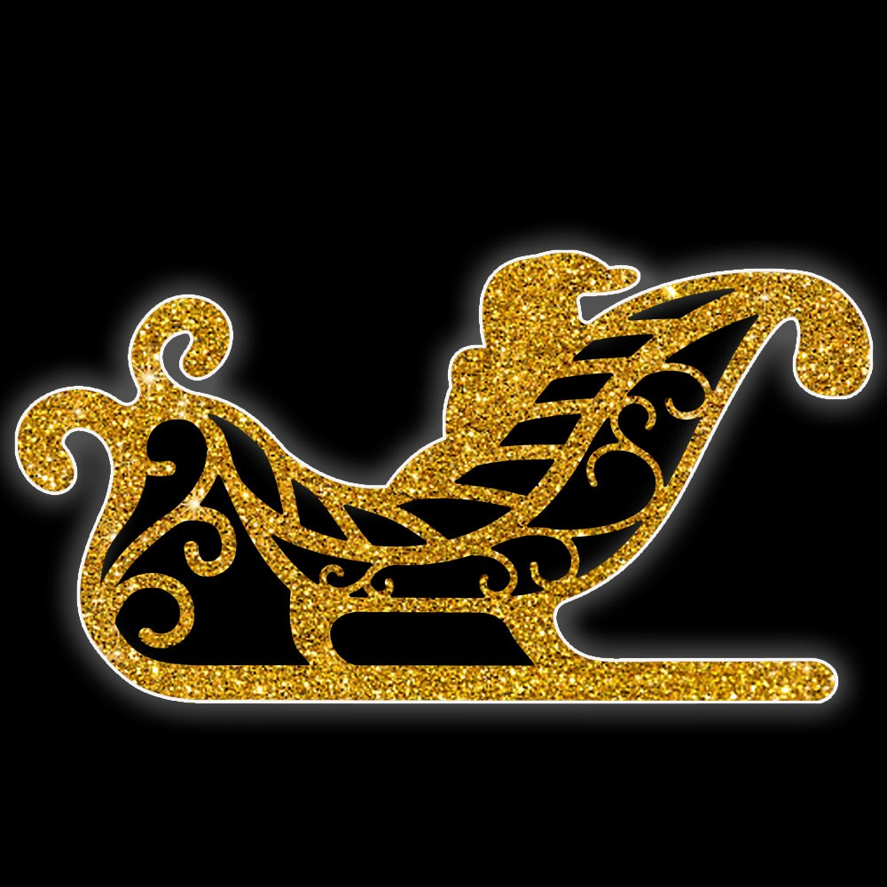006-A-MD - Painel de Natal Iluminado Led - Treno Decoração de Natal Dia e Noite