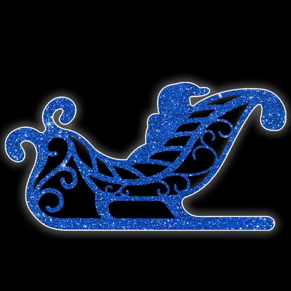 MD-007 - Painel de Natal Iluminado Led - Treno Decoração de Natal Dia e Noite