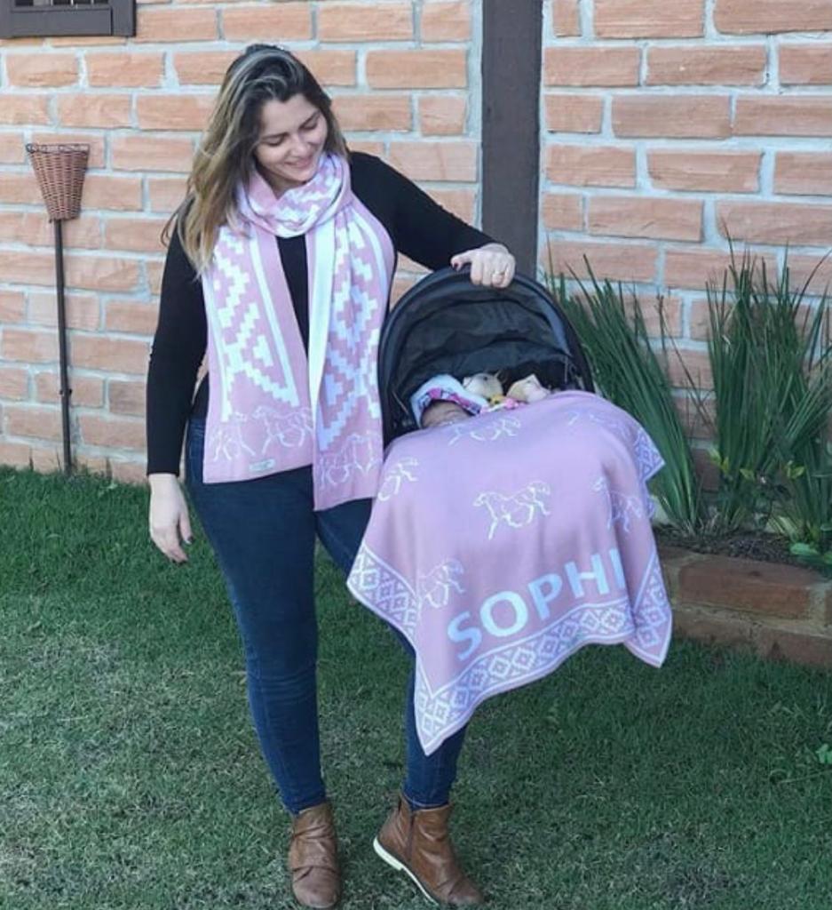 Manta Bebê Personalizada