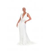 Vestido de Noiva Trabalhado com Cinto Bordado