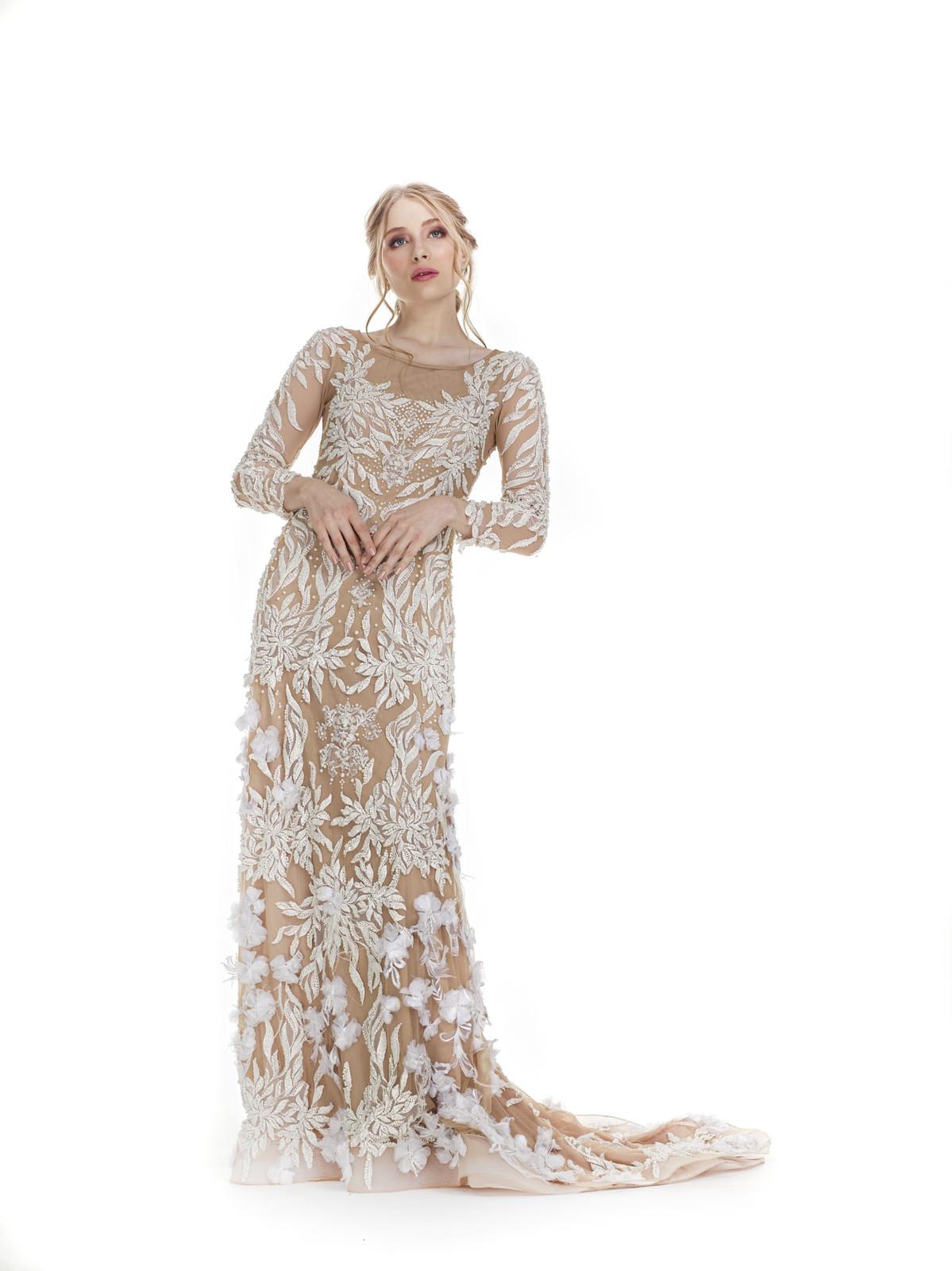 Vestido de Noiva Rendado com Flores
