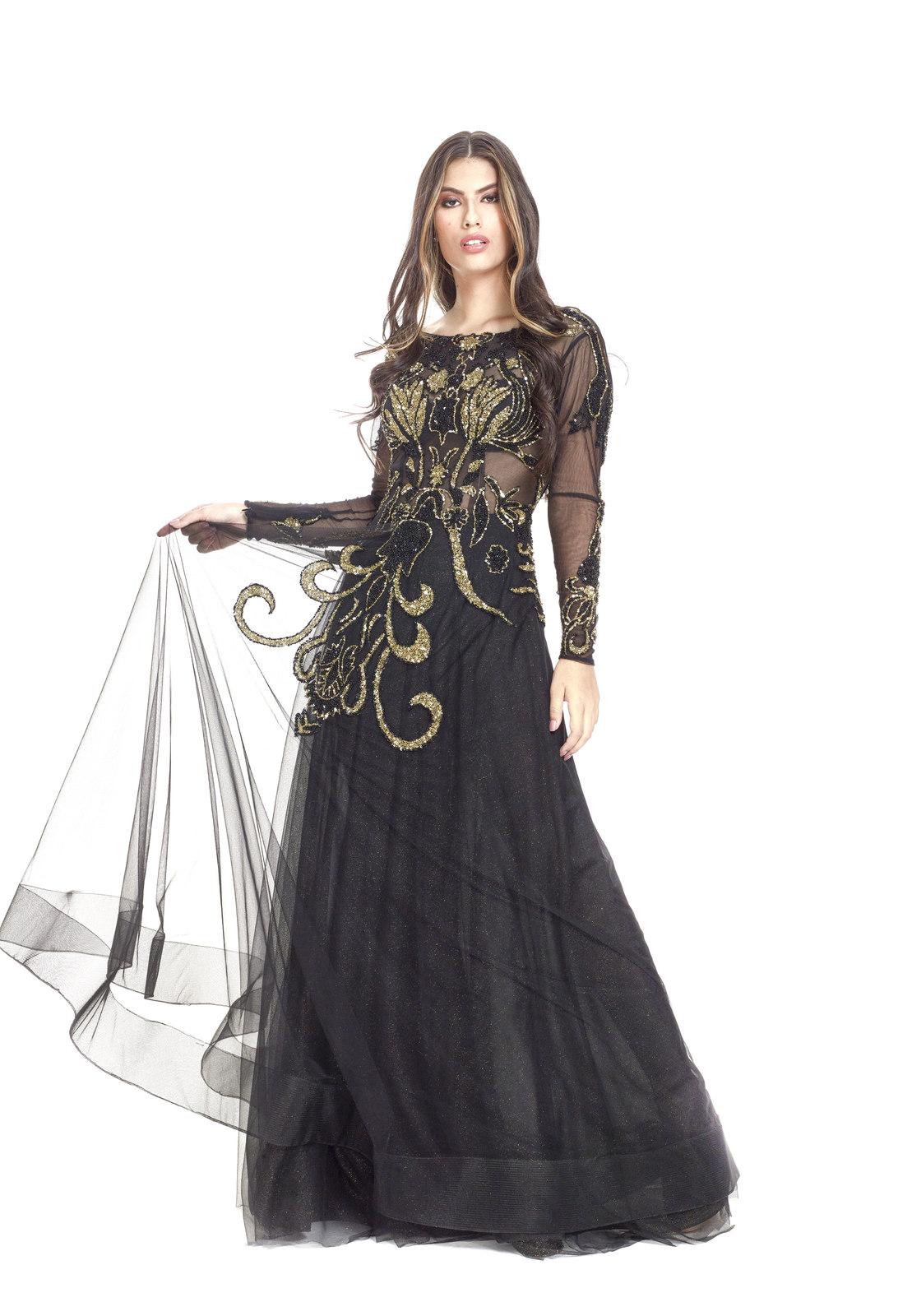 Vestido Núbia Glitter com Bordados