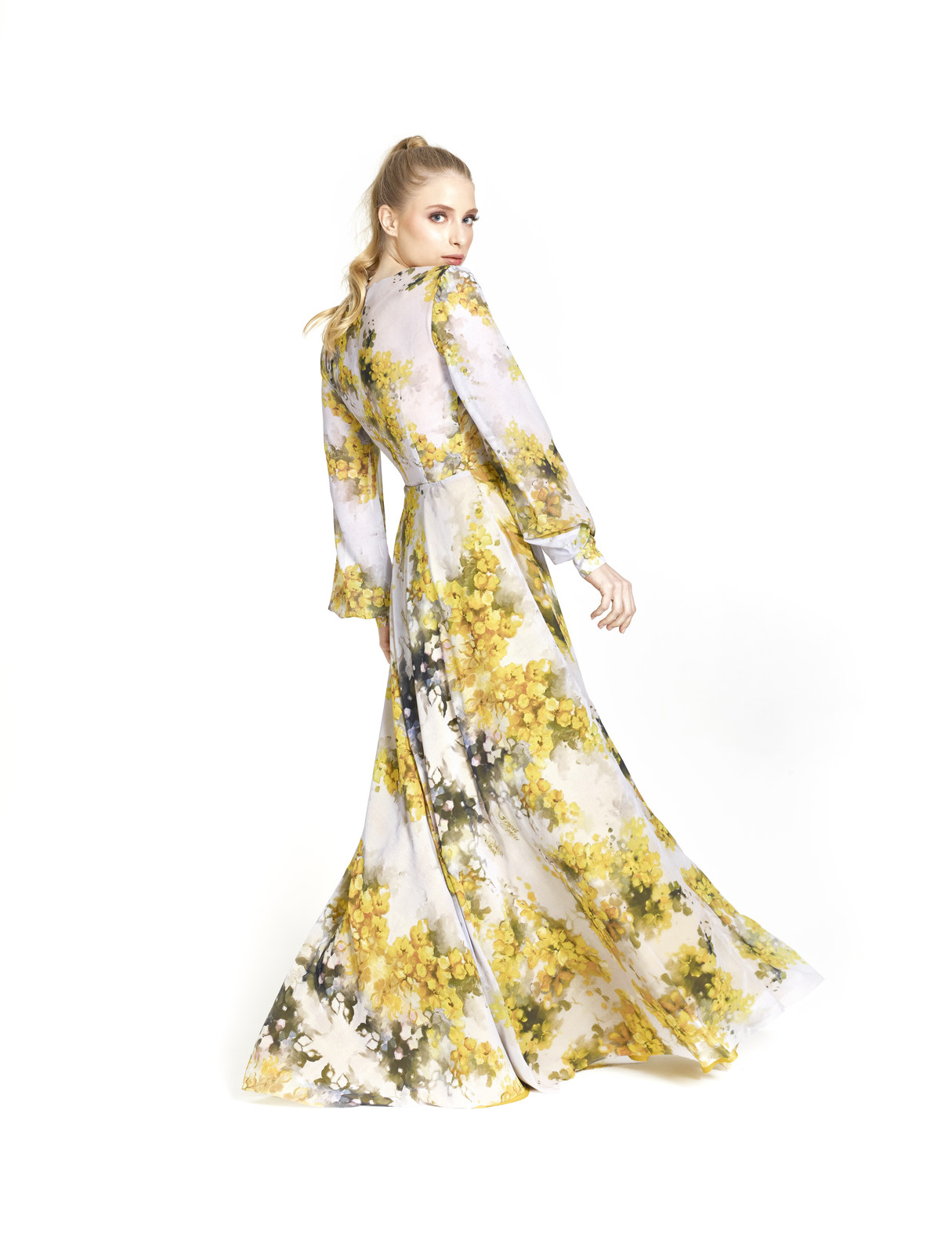 Vestido Transpasse Floral