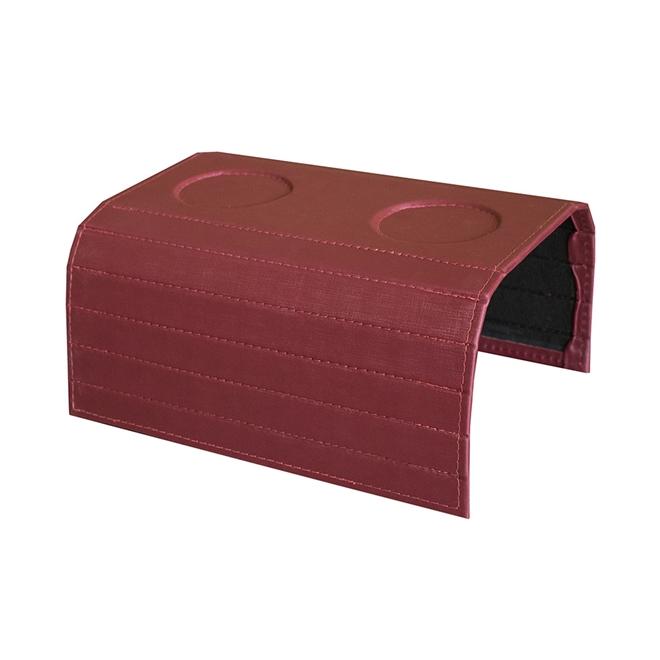 Bandeja Sintética para Sofá Porta Copos Vermelha